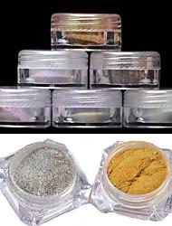 cheap -2pcs-manicure-mirror-powder-classic-6-color-2g-boxed-laser-chameleon-powder-mirror-effect