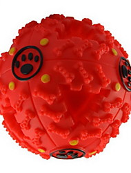 cheap -Dog Chew Toys Cat Chew Toys Dog Puppy Pet Toy Squeak / Squeaking Food Dispenser Rubber Gift
