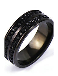 cheap -Men's Band Ring Crystal Black Alloy Punk Rock Daily Casual Jewelry Characters