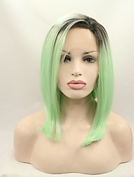 cheap -synthetic lace front wig ombre bob wig artificial hair beyonce wig black green lace front wigs
