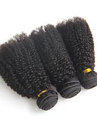 cheap -brazilian virgin hair kinky curly 3pcs 6a dark african american short hair styles brazilian curly hair
