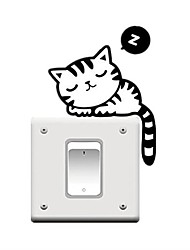 cheap -Animals / Leisure / Holiday Wall Stickers Plane Wall Stickers Light Switch Stickers, PVC(PolyVinyl Chloride) Home Decoration Wall Decal Wall / Glass / Bathroom Decoration / Removable