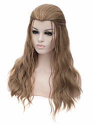 cheap -Synthetic Wig Cosplay Wig Straight Straight Wig Medium Length Long Light Brown Synthetic Hair Women's Brown