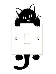 cheap -Animals Holiday Leisure Wall Stickers Plane Wall Stickers Decorative Wall Stickers Light Switch Stickers, PVC Home Decoration Wall Decal