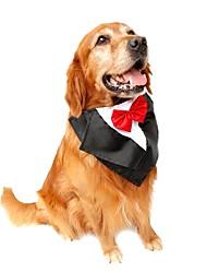 abordables -Chat Chien Smoking Cravate / Noeud Papillon Vêtements pour Chien Violet Rouge Bleu Costume Térylène Nœud papillon Anniversaire Mariage Nouvel An
