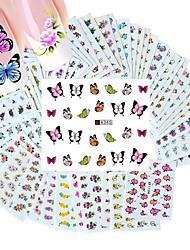cheap -50pcs different styles fashion flowers pattern nail art water transfer stickers
