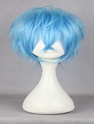 cheap -Synthetic Wig Cosplay Wig Curly Curly Wig Short Blue Synthetic Hair Men's Blue hairjoy