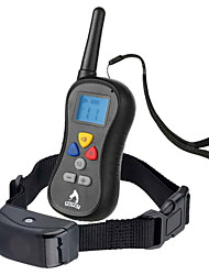 cheap -Dog Bark Collar Dog Training Collars Waterproof Anti Bark LCD Display Solid Colored Nylon Black