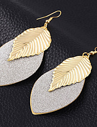 cheap -Women's Drop Earrings Leaf Ladies Vintage European Fashion Boho Silver Plated Gold Plated Earrings Jewelry Gold / Black / Silver For Wedding Party