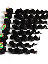 cheap -Brazilian Hair Loose Wave Human Hair Natural Color Hair Weaves / Hair Bulk Human Hair Weaves Human Hair Extensions / 8A
