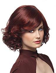 cheap -Synthetic Wig Curly Curly With Bangs Wig Short Medium Length Synthetic Hair Women's Red