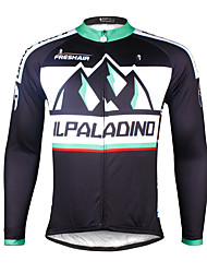 cheap -ILPALADINO Men's Long Sleeve Cycling Jersey Winter Bike Jersey Top Mountain Bike MTB Road Bike Cycling Breathable Quick Dry Ultraviolet Resistant Sports Clothing Apparel / Stretchy / Back Pocket
