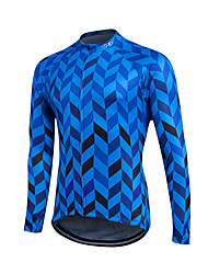 cheap -Fastcute Men's Women's Long Sleeve Cycling Jersey Red Blue Plus Size Bike Sweatshirt Jersey Top Thermal / Warm Breathable Quick Dry Sports Winter Polyester Coolmax® 100% Polyester Mountain Bike MTB