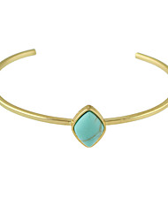 cheap -Women's Turquoise Cuff Bracelet Fashion Turquoise Bracelet Jewelry Blue / White For Christmas Gifts Party Daily