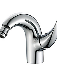 cheap -Bathroom Sink Faucet - Widespread Chrome Centerset Single Handle One HoleBath Taps