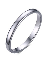 cheap -Men's Band Ring White Stainless Steel Tungsten Steel Fashion engineering Wedding Party Jewelry