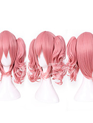 cheap -Synthetic Wig Cosplay Wig Straight Straight With Ponytail Wig Pink Pink Synthetic Hair Women's Pink hairjoy