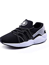 cheap -Unisex Shoes Tulle Spring / Fall Comfort Athletic Shoes Flat Heel Lace-up Black / Gray / Red