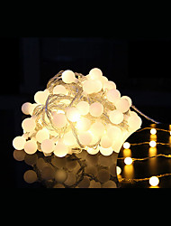 cheap -10m String Lights 100 LEDs Dip Led Warm White Decorative / Linkable 220-240 V 1 set / IP44