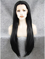 cheap -Synthetic Lace Front Wig Straight Straight Lace Front Wig Long Orange Black Synthetic Hair Women's Natural Hairline Middle Part Black Orange