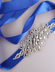 cheap -Satin Wedding / Party / Evening / Dailywear Sash With Rhinestone / Beading / Sequin Women's Sashes