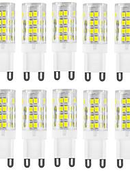 Недорогие -HKV 10 шт. 4 W Двухштырьковые LED лампы 400-500 lm G9 T 51 Светодиодные бусины SMD 2835 Водонепроницаемый Декоративная Тёплый белый Холодный белый 220-240 V / RoHs