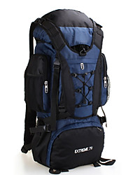 cheap -70 L Hiking Backpack Rucksack Rain Waterproof Dust Proof Skidproof Compact Outdoor Camping / Hiking Hunting Climbing Nylon Waterproof Material Dark Blue Red Light Blue / Yes / Wear Resistance