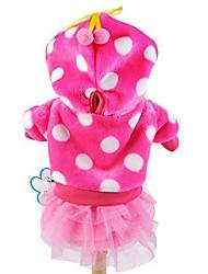 cheap -Cat Dog Hoodie Dress Polka Dot Fashion Dog Clothes Blue Pink Rose Costume Corduroy XS S M L XL