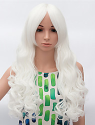 cheap -Synthetic Wig Wavy Wavy Wig Long White Synthetic Hair Women's African American Wig White