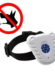 cheap -Dog Bark Collar Anti Bark Electronic / Electric Ultrasonic Solid Colored Plastic Nylon White