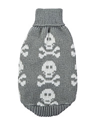 cheap -Dog Sweater Winter Dog Clothes Black Red Gray Costume Cotton Skull Keep Warm XS S M L XL