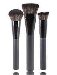 abordables -Professionnel Pinceaux à maquillage ensembles de brosses 3 Voyage Economique Professionnel Synthétique Hypoallergique Limite les Bactéries Mélange Premium Poil Synthétique / Pinceau en Fibres