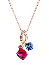 cheap -Women's Bohemian Bohemian Pendant Necklace Sterling Silver / Cubic Zirconia / Opal White / Assorted Color
