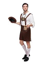 cheap -Halloween Carnival Oktoberfest Beer Dirndl Trachtenkleider Lederhosen Men's Top Dress Pants Bavarian Costume Black Brown Green / Hat / Hat