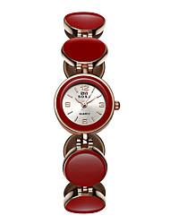 cheap -SOXY Women's Bracelet Watch Quartz Black / White / Red 30 m Casual Watch / Analog Ladies Casual Fashion Elegant Dress Watch - White Black Red One Year Battery Life / SODA AG4