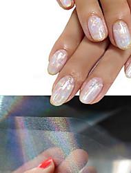 Недорогие -4 pcs 3D наклейки на ногти маникюр Маникюр педикюр блестит / Мода Повседневные / 3D-стикеры для ногтей