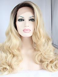 Недорогие -Синтетические кружевные передние парики Естественные кудри Естественные кудри Лента спереди Парик Блондинка Длинные Блондинка Искусственные волосы Жен. / Природные волосы / Природные волосы