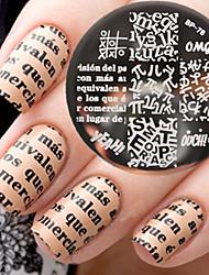 cheap -1 pcs Stamping Plate Template Fashionable Design nail art Manicure Pedicure Stylish / Fashion Daily / Steel