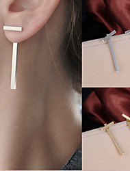 cheap -Women's Stud Earrings Cheap Ladies Simple Style Fashion Earrings Jewelry Gold / Silver For Wedding Party Daily Casual