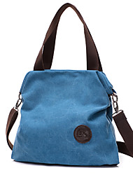 cheap -Women's Bags Canvas Solid Colored Daily Canvas Bag Handbags Black Blue Beige Gray