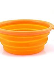 cheap -Cat / Dog Bowls & Water Bottles Pet Bowls & Feeding Waterproof / Portable Green / Pink / Orange Silicone