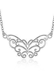 cheap -Women's Pendant Necklace Butterfly Animal European Fashion Sterling Silver Silver Plated Alloy White Necklace Jewelry For Party Daily Casual