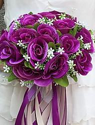 abordables -Fleurs de mariage Bouquets Mariage / Fête / Soirée Satin 25cm