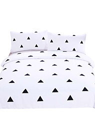 cheap -Duvet Cover Sets Novelty Poly / Cotton Reactive Print 3 PieceBedding Sets / 200 / 3pcs (1 Duvet Cover, 2 Shams)