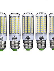 abordables -5pcs 10 W Ampoules Maïs LED 980 lm E26 / E27 T 72 Perles LED SMD 5730 Décorative Blanc Chaud Blanc Froid 220-240 V / 5 pièces / RoHs