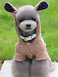 cheap -Dog Costume Jumpsuit Winter Dog Clothes Brown Pink Gray Costume Polar Fleece Animal Cosplay S M L XL XXL