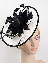 cheap -Feather / Net Kentucky Derby Hat / Fascinators with 1 Wedding / Special Occasion Headpiece