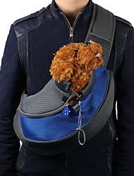 cheap -Cat Dog Carrier Bag Travel Backpack Front Backpack Sling & Messenger Bag Sling Shoulder Bag Portable Breathable Solid Colored Fabric Yellow Red Blue