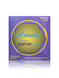 cheap -Amola  AT100 010-047 Professional Strings Series Super Light Phosphor Bronze Acoustic Guitar Strings Guitar Strings