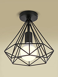 cheap -1-Light 25cm(9.8 Inch) Mini Style Flush Mount Lights Metal Painted Finishes Retro 110-120V / 220-240V / E26 / E27